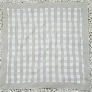Square checked scarf